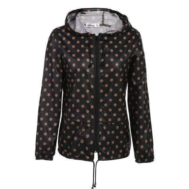 Meaneor Thin Trench Coat For Women Windbreaker Hooded Autumn Winter Lightweight Waterproof #RaincoatsForWomenCasual