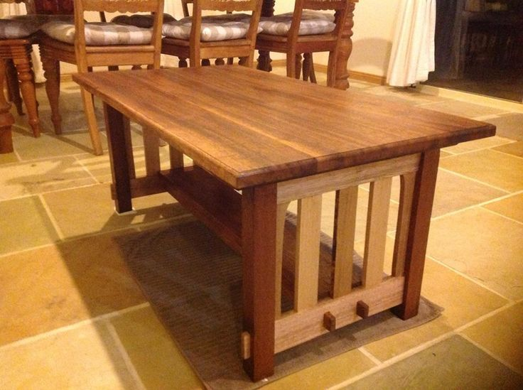 How to build a mission style coffee table in the arts and for Craftsman furniture plans