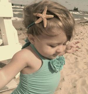 beach baby!  love the headband