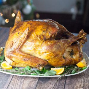 Golden, juicy, and delicious, this Butter Herb Roasted Turkey recipe won't disappoint with a hint of buttery herb flavor and a beautiful color. Super easy too!