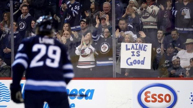 Mar.19 2018 - Teenage phenom Laine gunning for league goal-scoring title Patrik Laine Patrik Laine's racked up 68 points in 72 games and is riding a league-high 15-game point streak (18 goals, eight assists), which is already an NHL record for longest point streak by a teenager. He turns 20 on April 19. Patrik Laine, The Canadian Press