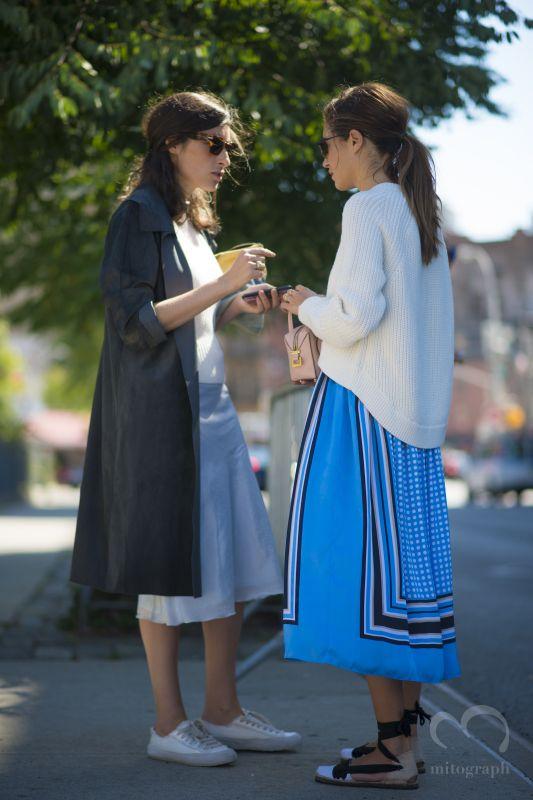 women after Michael Kors 2015 Spring Summer show during New York Fashion Week NYFW