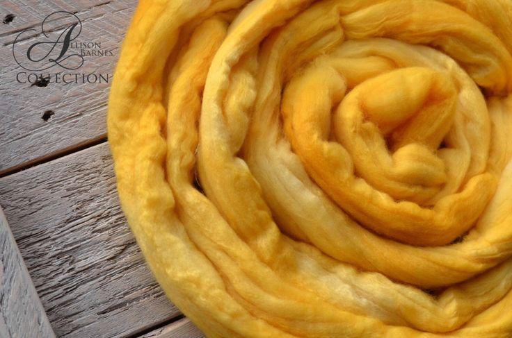 Merino Wool Top for Spinning or Felting - Honey Pot by allisonbCOLLECTION on Etsy https://www.etsy.com/ca/listing/488877346/merino-wool-top-for-spinning-or-felting