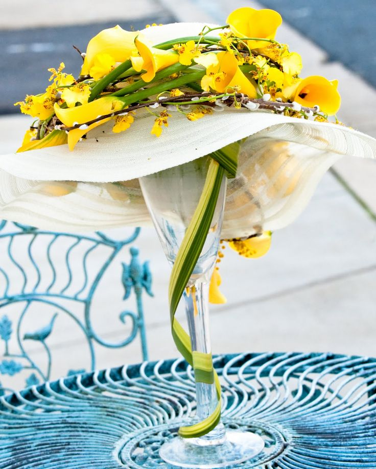centerpieces using hats   INTRIGUE - Floral Design: Award Winning Flowers in Annapolis