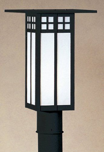 "Arroyo Craftsman GP-9L-BZ Bronze Glasgow Craftsman / Mission 1 Light by Arroyo Craftsman. $288.00. Inspired by the designs of C.R. Mackintosh, these Japanese influenced fixtures are at once contemporary, yet traditional9"" Glasgow Long Body Post MountPost or Pier Mount Not Included1 100w Max Medium Base (Bulb Not Included)UL Wet Listed"