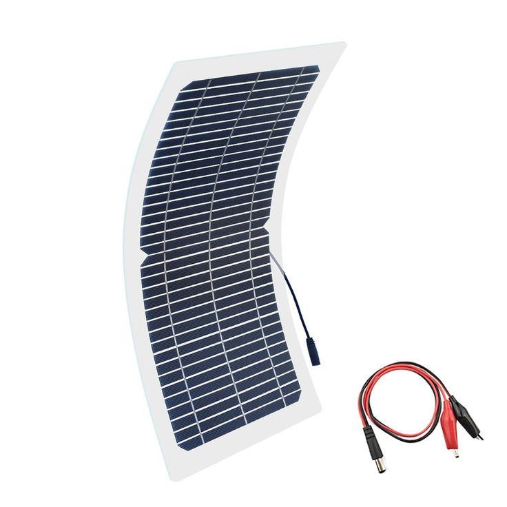 Solar Panel Kit Boguang 18v 10w Kit Transparent Semi Flexible Monocrystalline Solar Cell Diy Module Outdoor Connector Dc 12v Charger 54 Energy Solar Panel Kits Solar Panels Solar Cell