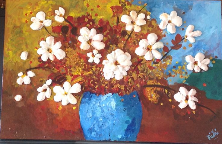 My daughter in law 's painting evokes in me the emotion of the way she's blossomed in my heart!
