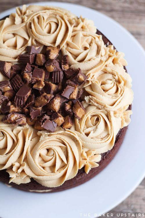 the best chocolate peanut butter cake (The Baker Upstairs)