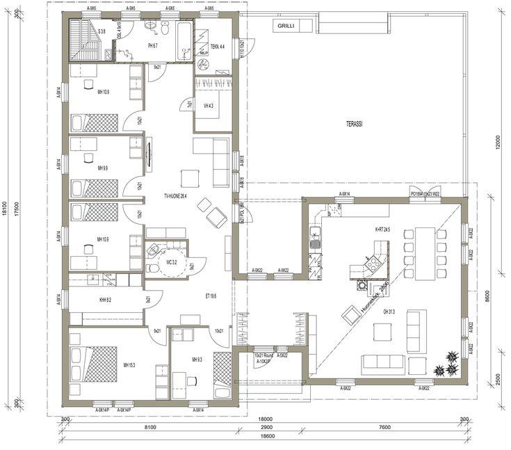 Talomallit | Luonnospankki | 1-kerros | L-14010 / 194 m²