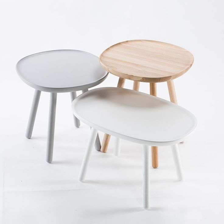 Naive Wooden Nest Of 3 Tables (3 Combinations)