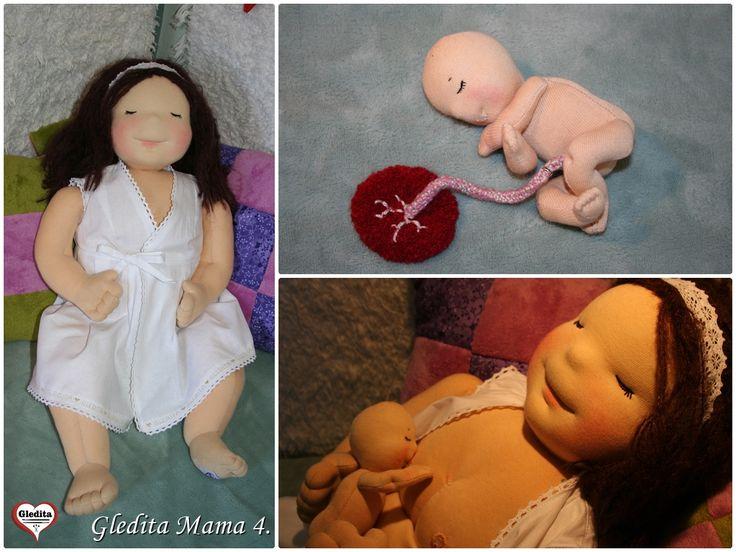 Gledita mama and her little newborn baby by #gleditacreative #birthingdemodoll http://gledita.hu