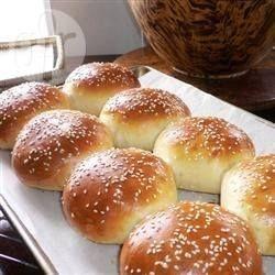 Фото рецепта: Булочки для гамбургеров или хотдогов