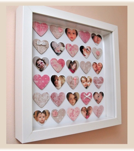 47 best cuadros scrap images on pinterest frame scrapbook handmade heart wall hanging with bethd one more sciox Image collections