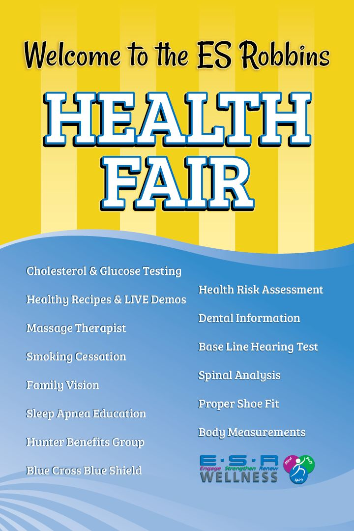ES Robbins Health Fair, internal poster