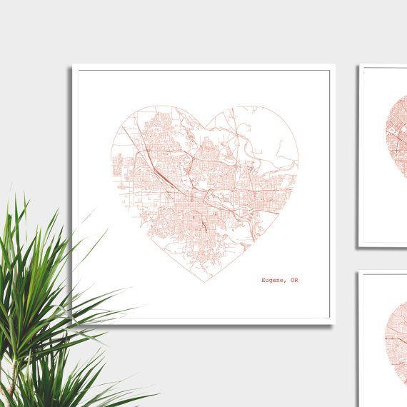 Eugene Heart Map