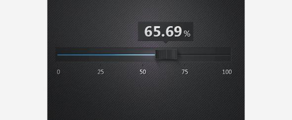 UI - realistic slider