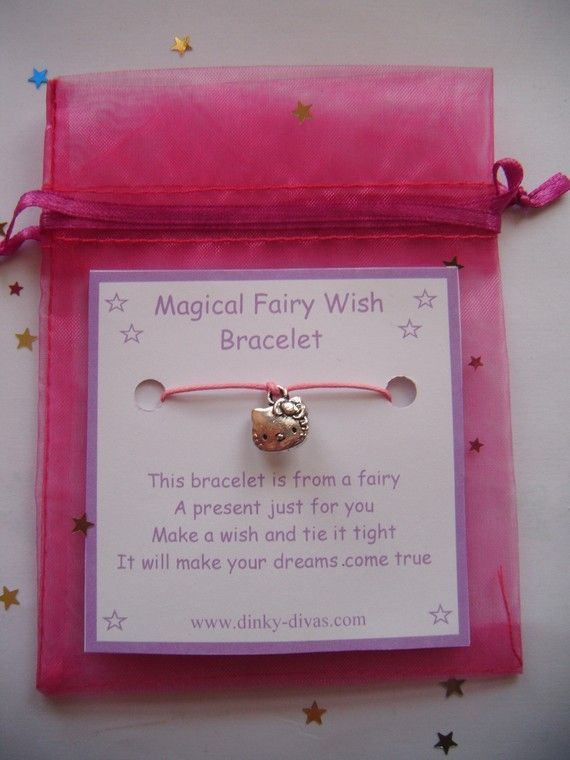 Magical Fairy Wish Bracelet HELLO KITTY Charm by DengraDesigns, $1.75