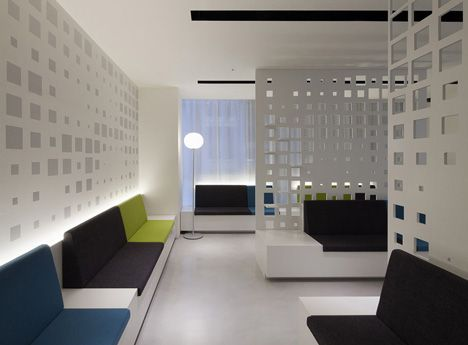 -perforated walls  G Clinic 7F by KORI architecture office