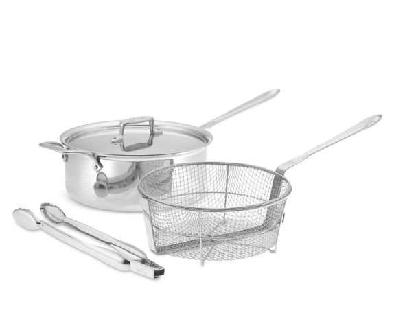 All Clad D5 Stainless Steel 6 Qt Deep Saut 233 Pan With Fry