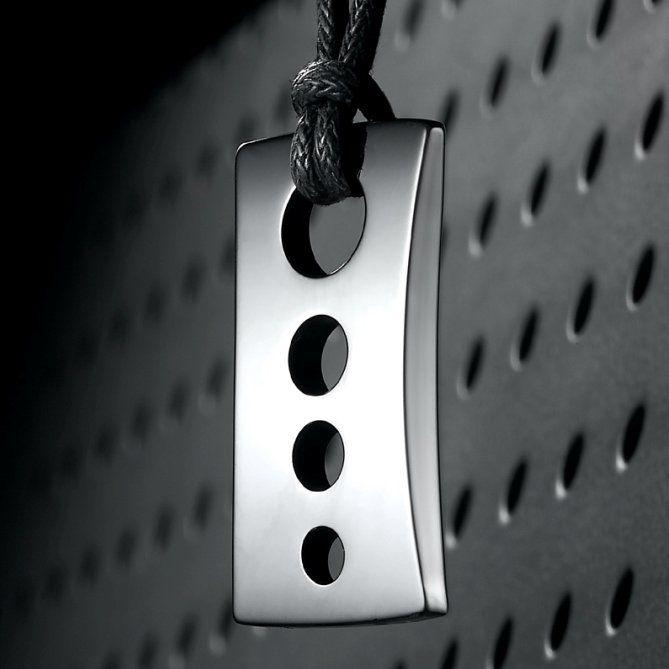 Mens R Razor Style Tungsten Pendant Trendy Chain | RnBJewellery
