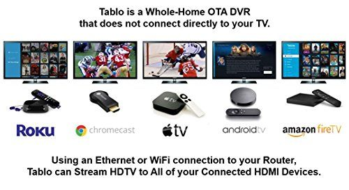 Tablo 4-Tuner Digital Video Recorder  for Over-The-Air  HDTV with Wi-Fi for LIVE TV Streaming