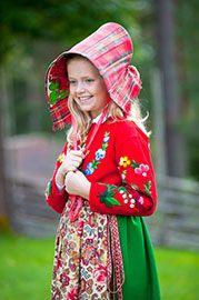 Little girl from Dala-Floda in Sweden. Scandinavian Folkolore I and II by Laila Durán