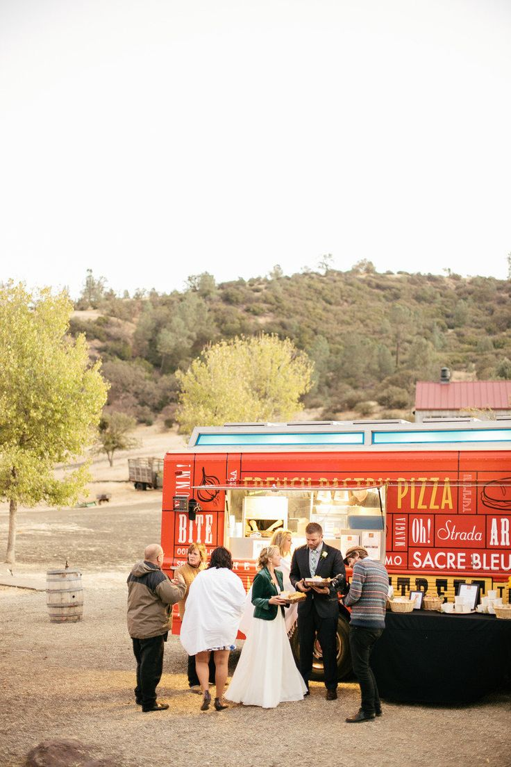 Food Trucks - the new darling of the wedding reception #truck  Photography: Steve Steinhardt Photography - stevesteinhardt.com Day Of Coordination: Avante Events - avanteevents.com/  Read More: http://www.stylemepretty.com/2013/05/20/figueroa-mountain-farmhouse-wedding-from-steve-steinhardt/ http://food-trucks-for-sale.com/