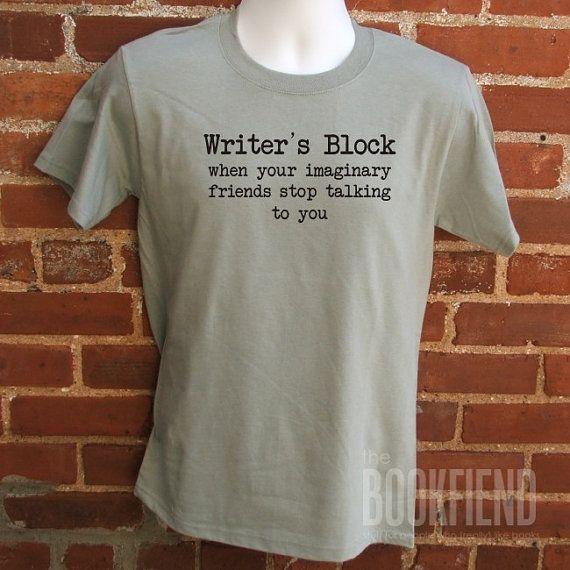 writer's block classic fit t-shirt
