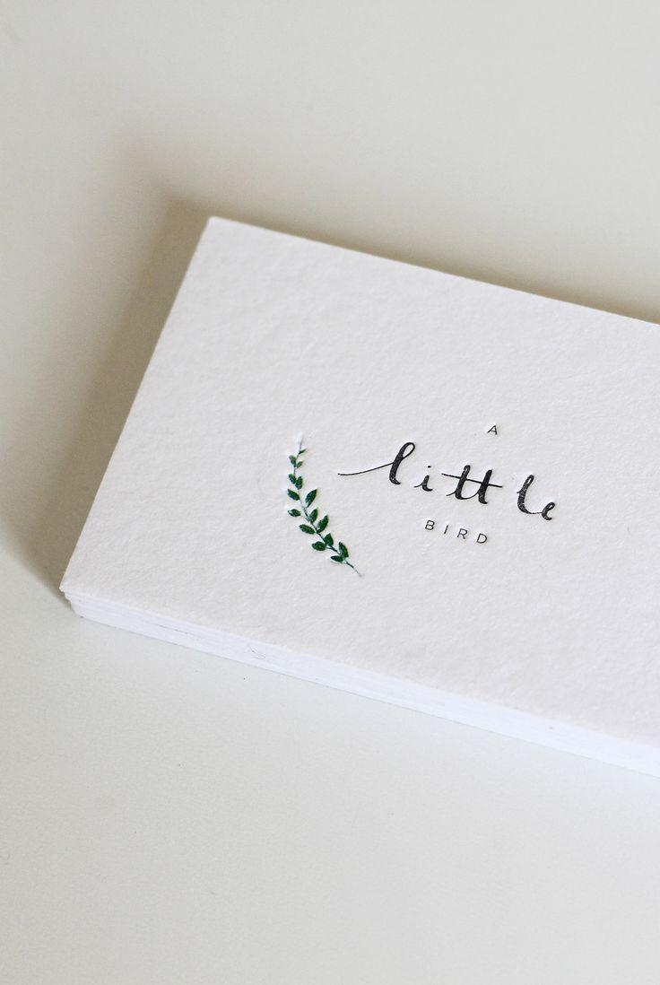 "INSPIRACIÓN ESTILO ""KINFOLK"" : Fresh & Wood | Super minimal and simple letterpress business cards"