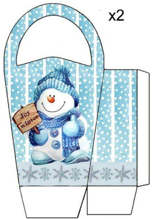 christmas gift box template - photo #46
