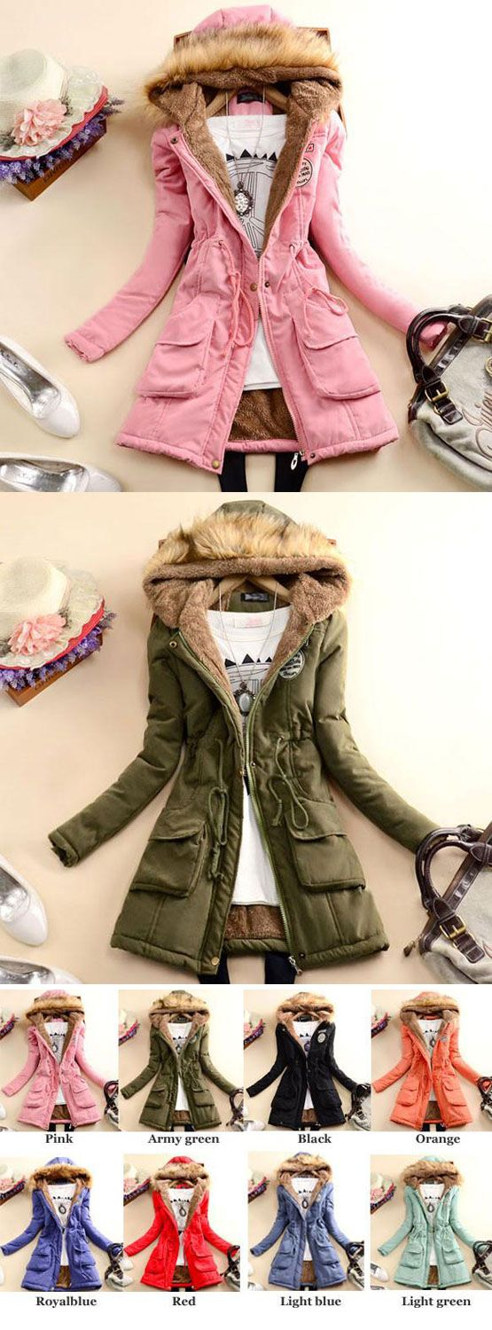 Nice Fashion Slim Wool Hooded Long Winter Cotton Coat for big sale! #winter #coat #fashion #wool #slim