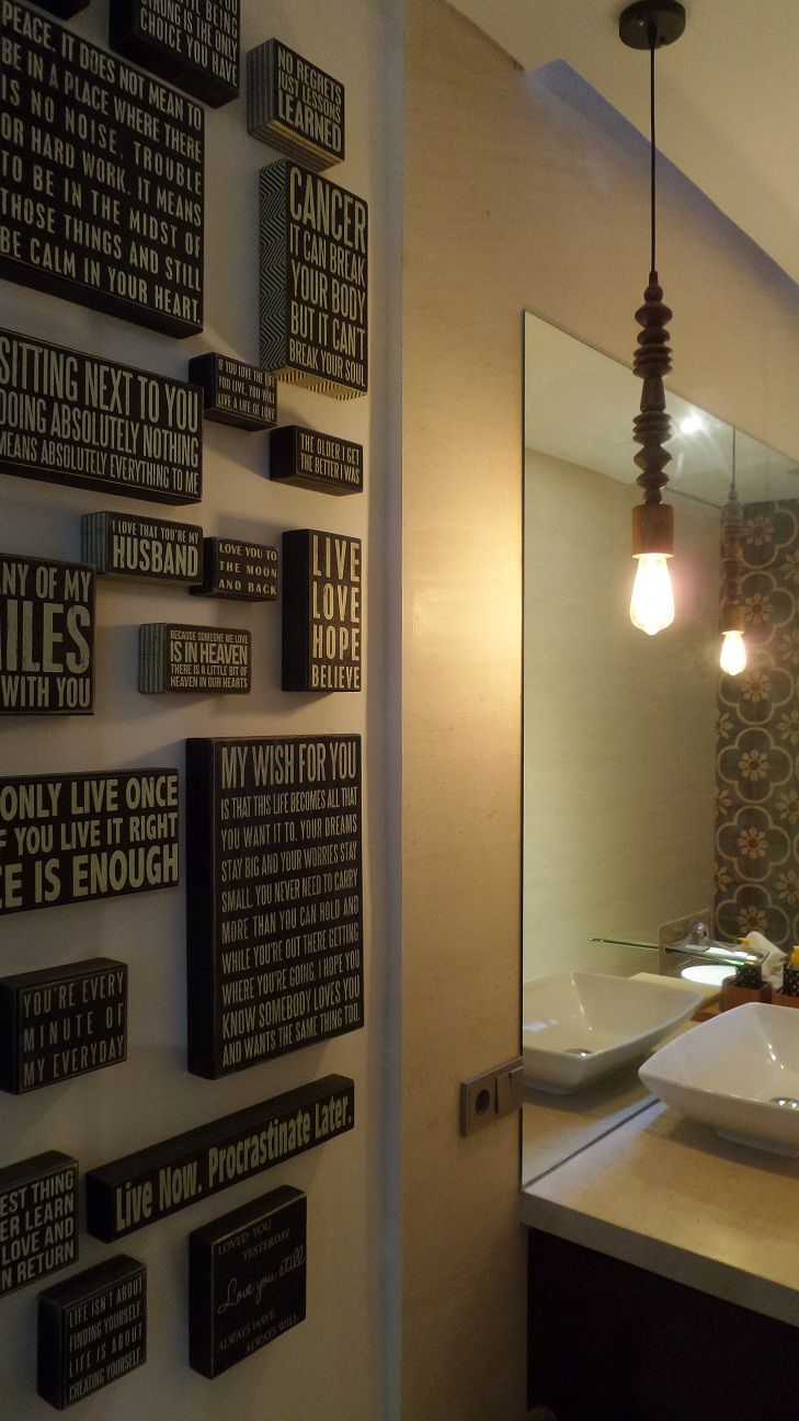Wisdom words on wood, self reminder