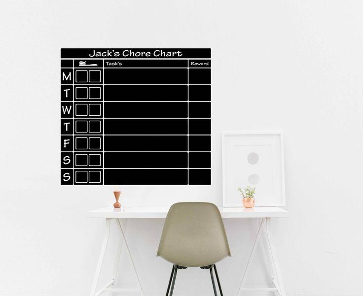 Chalkboard Chore Calendar - Chalkboard Family Planner - Chalkboard Planner- Dry Erase Wall planner, Chalkboard Wall Planner - organizer by TheVinylGraphixGeek on Etsy