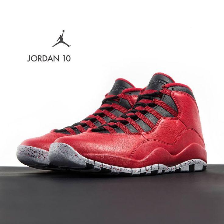 Air Jordan 10 Retro Og / Negro-blanco Verdadera Langosta Roja