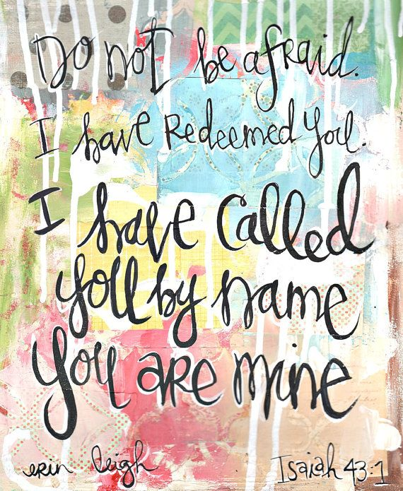 Christian Gift. Scripture Wall Art. Bible Verse Art. Christian Art. I have called you by name. Isaiah 43.7