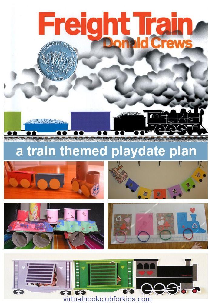 Train themed playdate fun with Donald Crews Freight Train