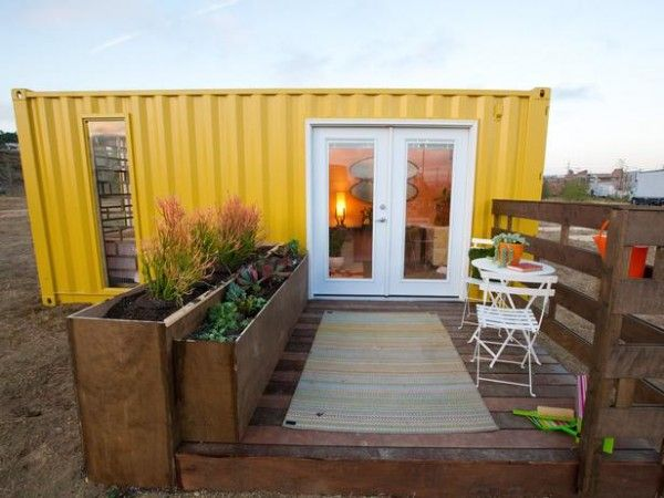 Design star shipping container tiny house home shelter cabin cottage in the woods