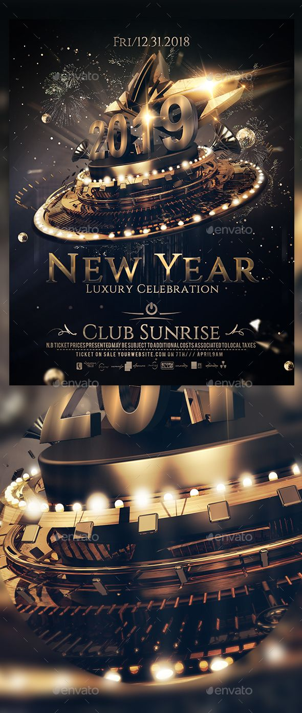 New Year Luxury Celebration A4 Poster Party Poster Celebrities Poster Template