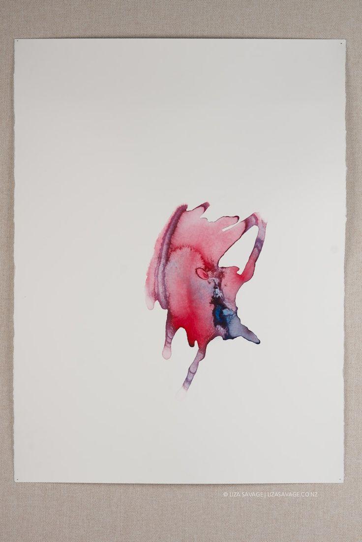 Molten Grace, 2014.  Artist – Liza Savage.  Watercolour on Magnani Portifino watercolour paper 550G HP, 560x760mm. SOLD