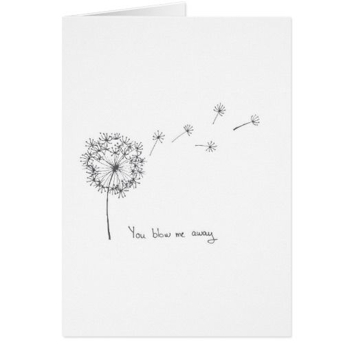 Dandelion hand illustrated funny Valentines card