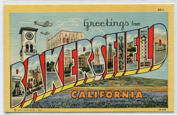 Greetings From Bakersfield California Large by ThePostcardDepot