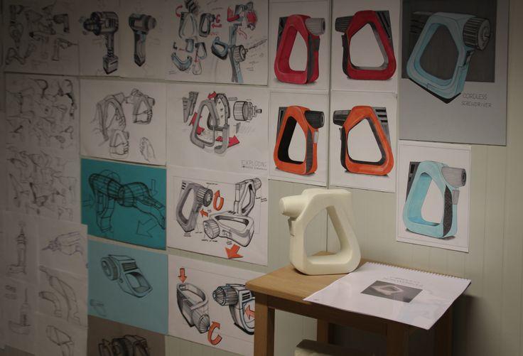Szymon Mrózek (School of Form) drill sketches and a foam model