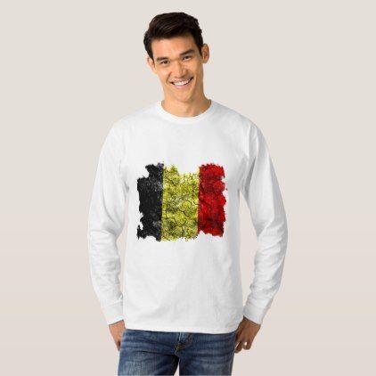 Belgium Vintage Flag T-Shirt  $25.65  by Soulrider  - cyo customize personalize unique diy idea