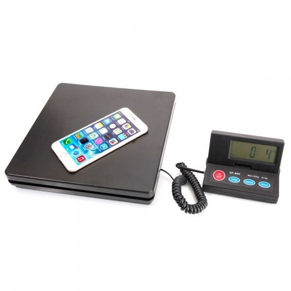 50KG/2G SF-890 Portable Plastic Electronic Scale Black