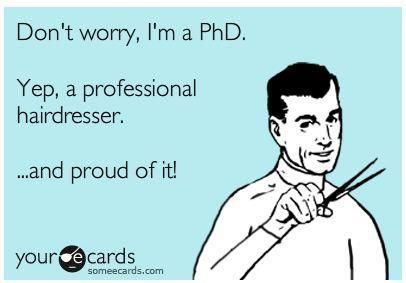 Think The Phd title is funny for a stylist? Then why did you call so upset about what you or anyone not a Professional Hairdresser did to your hair saying you would die if I can't help you?????