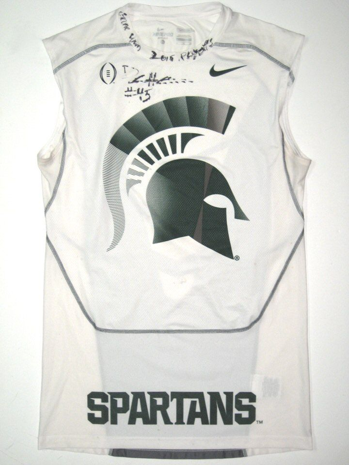 Darien Harris Game Worn & Signed Michigan State Spartans Nike Pro Compression XL Sleeveless – Worn vs Alabama in 2015 Cotton Bowl!