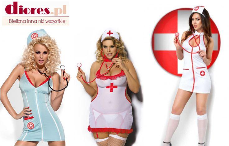"""Mamy kilka pomysłów jeżeli ktoś będzie """"chory"""" na Walentynki. ;) Zobaczcie nasze przebrania erotyczne na diores.pl #bieliznanocna #bieliznaerotyczna #przebrania #kostiumyerotyczne"""