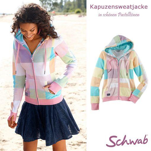 Die bunte #Kapuzensweatjacke von Kangaroos wärmt nicht nur, sondern bringt auch noch Farbe in den Alltag!