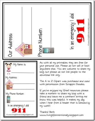 Learning Contact information for kids