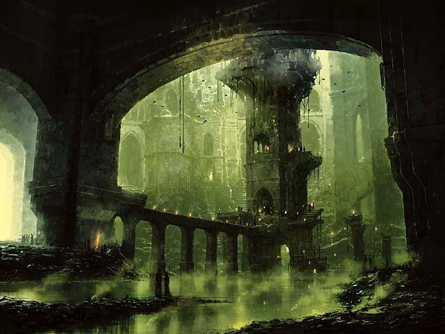 ravnica land art swamp by richard wright magic the